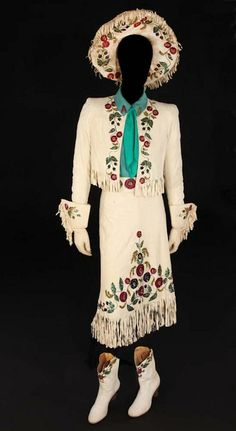 "One of Betty Hutton's costumes from ""Annie Get Your Gun.""  Sold in 2011 for $11,000"
