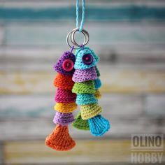 Crochet Pattern FISH KEYCHAIN, crochet fish, FIsh key chain crochet pattern, Sea creatures pattern, Nautical Toy Pattern
