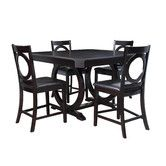 Found it at Wayfair - Brigham 5 Piece Counter Height Dining Set