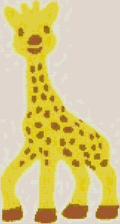 Excited to share the latest addition to my #etsy shop: Cute Giraffe http://etsy.me/2GHIxpG #supplies #crossstitch #animal #giraffe #baby #beginner #aidacloth #14count #pattern