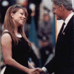 Mariah Carey and Bill Clinton - 25 Photos of Mariah Carey Ruling the '90s   Complex UK
