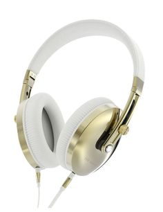 #tedbaker #headphones Premium quality sound matched with premium luxury style.The beautifully stunning Gold and White Leather Rockall headphones remind you why style is every bit as important as the sound.