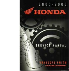 407 best repair manuals save and just fix it yourself images 2005 2006 honda trx500 500 fefmtm fourtrax foreman atv service repair manual over 400 pageshighly detailed manualstant downloadintable fandeluxe Gallery