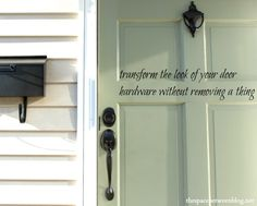 Easy curb appeal alert! Paint your front door AND hardware without removing a thing.