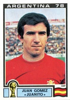 Panini Stickers Panini Football Sticker Albums Argentina 78 World Cup sticker Juan Gomez - Spain, Argentina 78 World Cup ref. Football Stickers, Football Fans, Spanish Soccer Players, Vignettes, World Cup, Spain, Baseball Cards, Retro, Sports