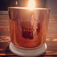 Loving this Tom Dixon candle in copper shell