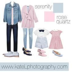 Rose Quartz + Serenity // Family Outfit