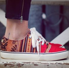 Printed aztec shoes