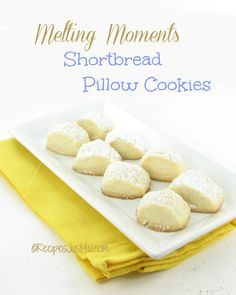 Melting Moments Cookies -  melt in your mouth goodness.  Get the recipe http://recipesjust4u.com/melting-moments-cookies/