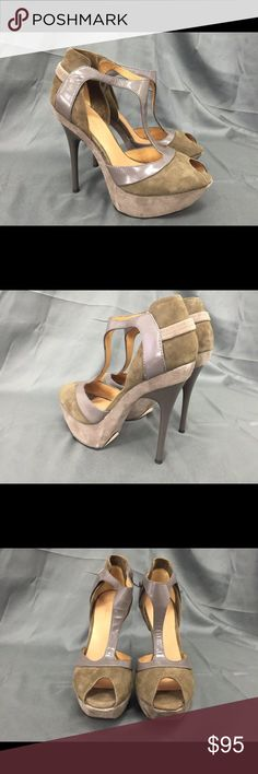 NWOT Gorgeous L.A.M.B. Heels Too haute L.A.M.B. Heels. NWOT. Perfect for weeding the room. Your legs will thank you!  No box or dust cover. L.A.M.B. Shoes Heels