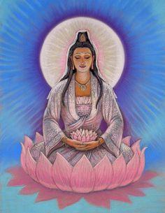 Kuan Yin Painting by Sue Halstenberg