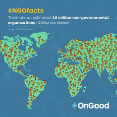 #NGOfacts There are an estimated 10 million (non-governmental organizations) NGOs worldwide.