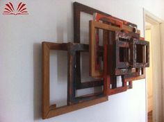 Artista :Afonso Tostes  Título :s/t  Técnica :Óleo e madeiras sobrepostas