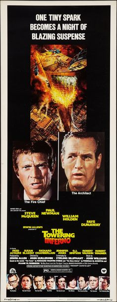 Towering Inferno (1974) with Steve McQueen, Paul Newman, William Holden - stellar cast!