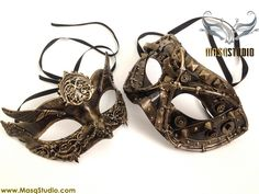 Couple Masquerade mask Pair Halloween Costume Dress up Graduation Dance Party