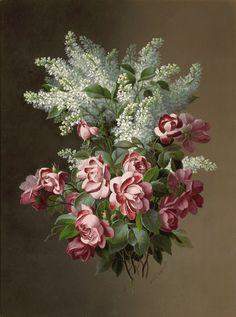Восхитительные цветы Paul de Longpre и Raoul de Longpre