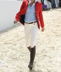 Equestrian style, that red jacket!
