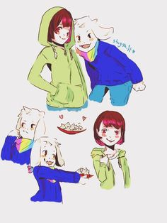 Storyshift chara and asriel are cuties! how i did not know about it earlier ?(✿) @ut-storyshift