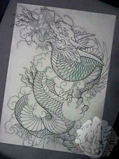 I honestly like the color styles, lines, and fine detail. T…- I honestly like the color styles, lines, and fine detail. This is certainly a good idea if you really want a - Dragon Japanese Tattoo, Asian Dragon Tattoo, Small Dragon Tattoos, Japanese Tattoo Art, Japanese Tattoo Designs, Japanese Sleeve Tattoos, Dragon Tattoo Sketch, Dragon Tattoo Designs, Dragon Oriental