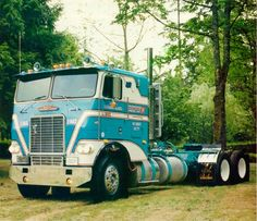 Classic White Freightliner COE