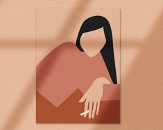 Abstract Female Illustration Neutral Art Simple Fashion | Etsy Neutral Art, Neutral Colors, Custom Icons, Women Figure, International Paper Sizes, Modern Colors, Fashion Prints, Printing Services