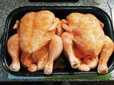 Domácí uzené kuře | naložená kuřata v kořenící směsi Turkey, Meat, Chicken, Food, Turkey Country, Essen, Meals, Yemek, Eten