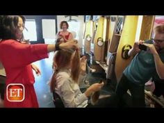 "Shailene Woodley Cries During Her "" The Fault in Our Star"" Haircut - YouTube"