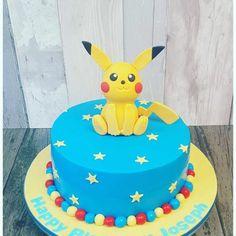 Hier Zeigen Wir Ihnen Eine Unserer Ideen Für Eine Blaue Pokemon Torte Mit  Einem Gelben Pokemon