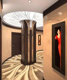 Art Deco Hallway curving
