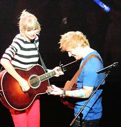 taylor swift and ed sheeran (gif)