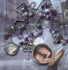 Purple Rain Antique Sterling French Locket Amethyst by angels9, $108.00