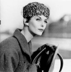 Anne Saint-Marie - Cap by Dior - Photo by Henry Clarke (American, 1918-1996) - @~ Mlle