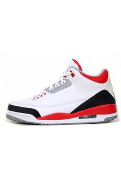 wholesale dealer 604a2 9da80 Nike Mens Air Jordan Retro 3 OG Basketball Shoes White Black Fire Red Size  10 Authentic Brand New Durable Original Packaging