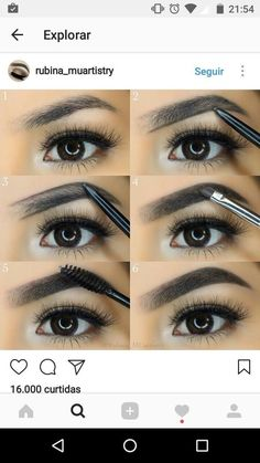 eyebrows tutorial Are you wanting to fill in eyebrow tutorial? I will explain ! Come on prim . Eyebrow Makeup Tips, Eye Makeup Tips, Skin Makeup, Eyebrow Brush, Makeup Eyebrows, Perfect Eyebrow Shape, Perfect Brows, Tweezing Eyebrows, Threading Eyebrows
