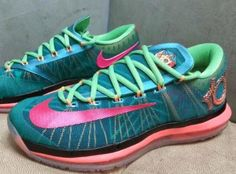 0bf6efb6287f Nike KD 6 Elite Green Red Atomic Mango Sneaker (Detailed Images) Kd