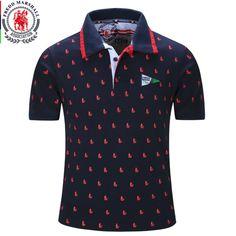 2016 nova marca homens Polo camisa dos homens sólidos Polo homme casuais…