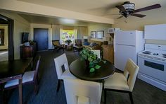 Call us today to book the Admiral Suite!  Overlooking the cove, this two bedroom deluxe suite can accommodate six guests.  800-892-2141 or visit us at www.nauticalbeachfrontresort.com