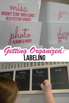 Organize with Labels Labeling an organizing project puts the final touches into place - now that pantry is ready to go! But what type of labels should you use? I cover it all in the ultimate guide to labeling for organization! Chalkboard Labels, Vinyl Labels, Printable Labels, Spice Jar Labels, Pantry Labels, Summer Camps For Kids, Summer Kids, Dymo Label, Ikea Pictures