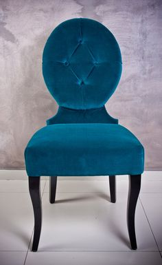 gorgeous teal velvet chair