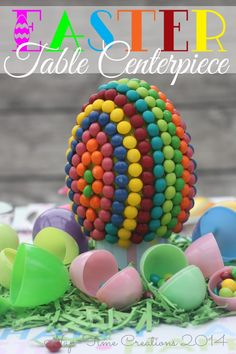 Easter Table Centerpiece {Candy Creation} - Nap-time Creations #VIPFruitFlavors #shop