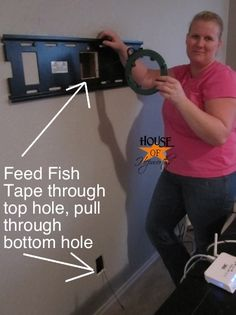 For Miss Jessica!!! Follow these instructions to hide cords! Going to need this for a flat screen one day!