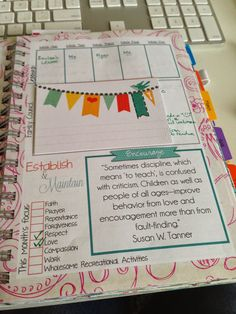 Mormon Mom Planners - Monthly Planner/Weekly Planner: Using Washi Tape & Scrapbook Paper to utilize your planner