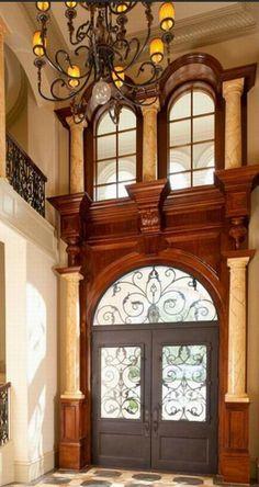 Tuscan entrance design