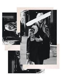 Collage / Graphic / Design / Editorial / Fashion / Black and White / B&W / Scrapbook / Magazine