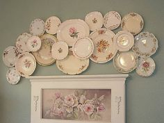 Beautiful plate display