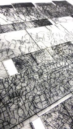 mark making Susan Bowers; a lovely piece Tachisme, Collagraph, Black White Art, Encaustic Art, Letter Art, Mark Making, Calligraphy Art, Texture Art, Oeuvre D'art