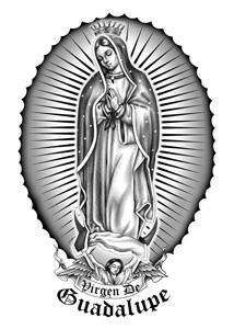 VIRGIN MARY VIRGEN DE GUADALUPE Temporary Tattoo