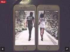 Cute, phone, relationship, hold hands, lock screen.