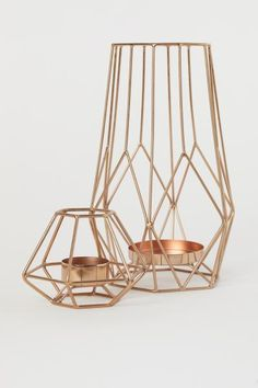 Metal Tea Light Holder - Copper-colored - Home All | H&M US 2