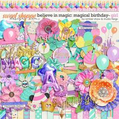 Believe in Magic Magical Birthday - Girl  by Amber Shaw & Studio Flergs